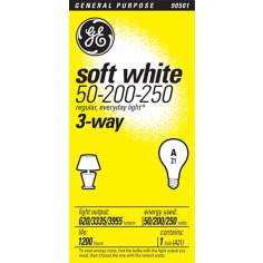 GE 3-Way 50-200-250 Soft White Light Bulb
