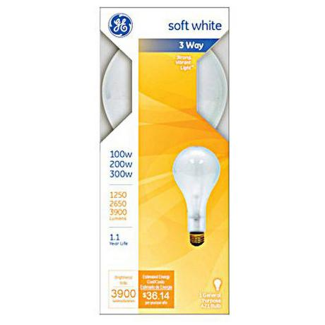 Ge 3 way 100 200 300 watt mogul base light bulb 90505 3 way light bulbs