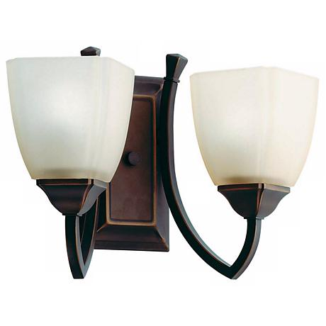 "Piedmount Collection 14"" Wide Bronze Bathroom Light Fixture"