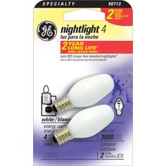 GE 2-Pack Night Light Bulbs