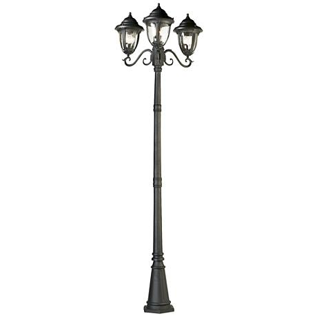"Casa Sierra™ Outdoor 90 1/2"" Black 3-Light Post Light"