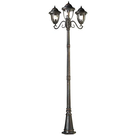 "Casa Sierra™ 90 1/2"" High Bronze 3-Light Post Light"
