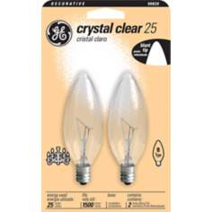 GE 25 Watt Blunt Tip 2-Pack Candelabra Light Bulbs