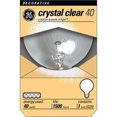 GE 40 Watt G25 Clear Base Decorative Light Bulb