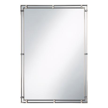 Murray Feiss Parker Place Brushed Steel Wall Mirror