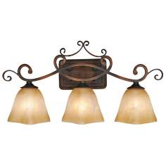 Meridian Collection Three Light Bathroom Wall Light