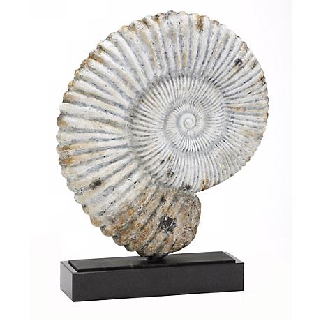 "Nautilus Fossil Shell 16"" High Sculpture"