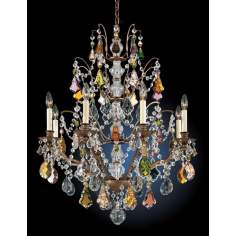 "Schonbek Gallia Collection 28"" Wide Crystal Chandelier"