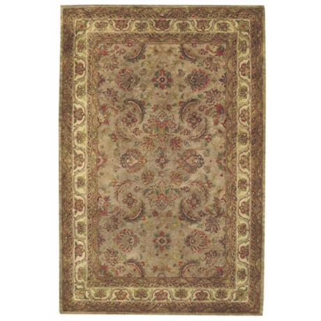 Regal Keshan Camel and Gold Area Rug