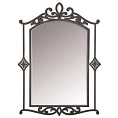 "La Parra Collection Hand-Forged 40"" High Wall Mirror"