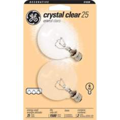 GE 25 Watt  2-Pack Clear Candelabra Light Bulbs