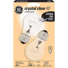 GE 40 Watt 2-Pack Clear Ceiling Fan Bulbs