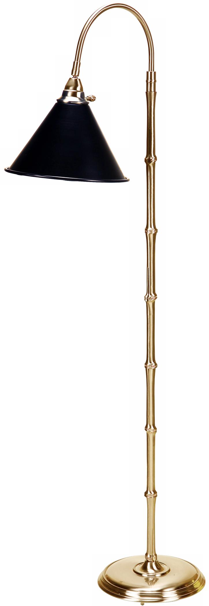 Frederick Cooper Brass Cane Downbridge Floor Lamp (91861)