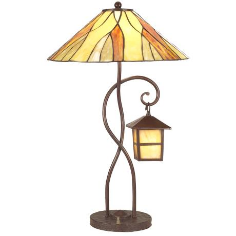 Mission Frontier Tiffany Style Table Lamp