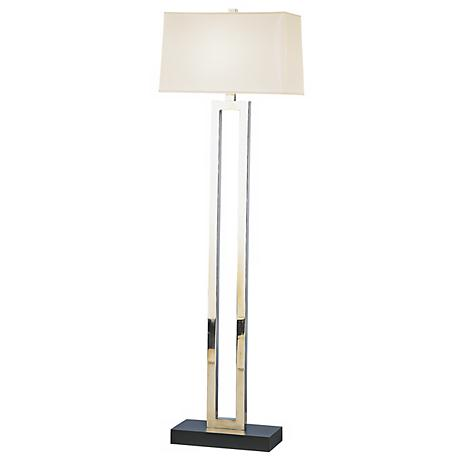 Robert Abbey Doughnut Collection Silver Finish Floor Lamp