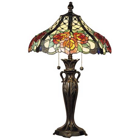 Dale Tiffany Hazlett Art Glass Table Lamp