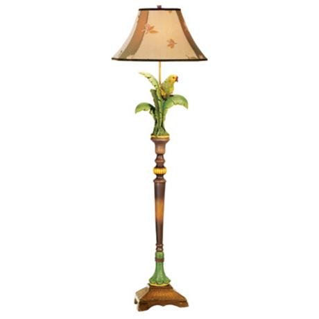 Kathy Ireland Gallery Tropical Parrot Floor Lamp