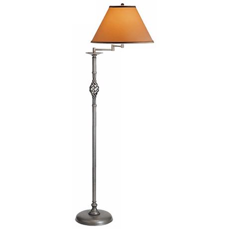 Hubbardton Forge Twist Basket Swing Arm Floor Lamp