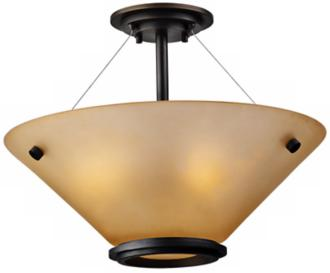 "Forecast Town and Country 20"" Bronze Ceiling Light (92185)"