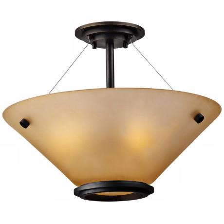 "Forecast Town  and Country 20"" Bronze Ceiling Light"