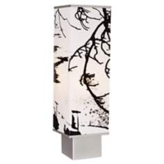 Autumn Branch Square Tower Accent Lamp