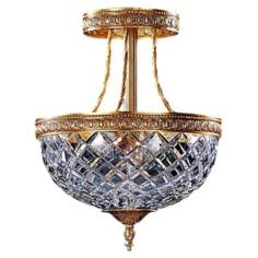 "Lead Crystal 12 1/2"" High Ceiling Light"