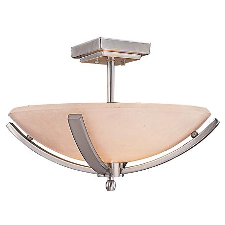 "Minka Raiden 19"" Wide Brushed Nickel Ceiling Light"