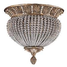 "Crystal Bead 14"" Wide Ceiling Light Fixture"