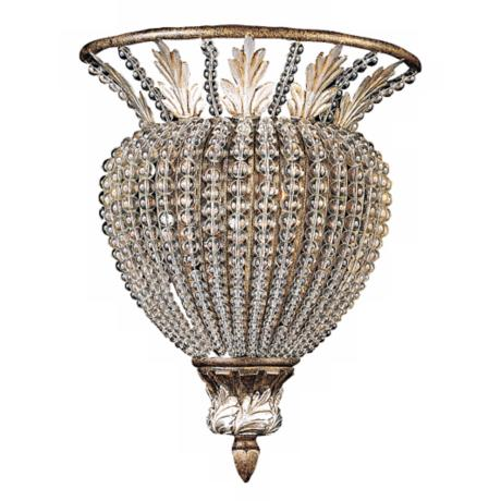 "Crystal Bead 12"" High Wallmount Fixture"