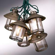 Old Fashioned Metal Moon Lantern Party String Lights