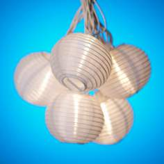 White Paper Lantern String Party Lights