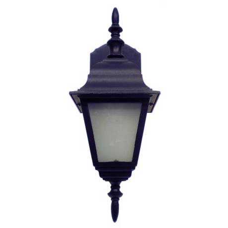 "Black Cast Four Sided 16 3/4"" High Outdoor Wall Light"