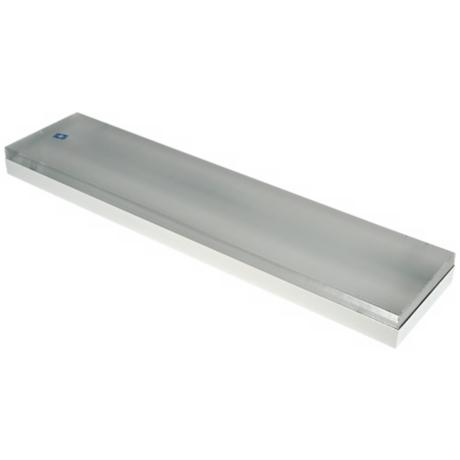 "White Finish 48"" Wide Strip Shop Ceiling Light"