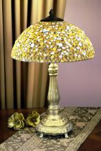 Dale Tiffany Mosaic Series Antique Gold Table Lamp