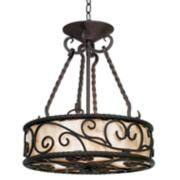 "Natural Mica Collection 17"" Wide Pendant Chandelier"