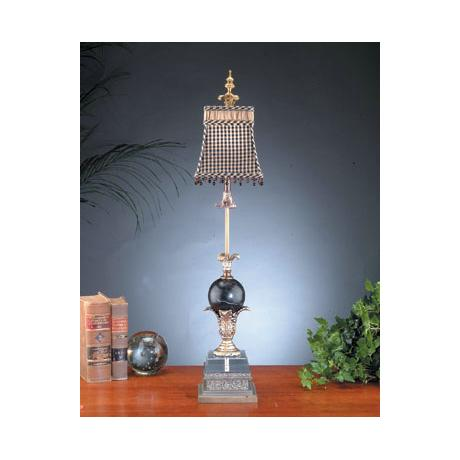 John Richard Silver and Gold Brass Buffet Table Lamp