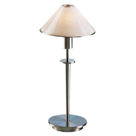 Satin Nickel and Pearl Glass Mini Holtkoetter Desk Lamp