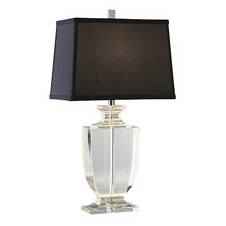Artemis Accent Clear Crystal Black Shade Table Lamp