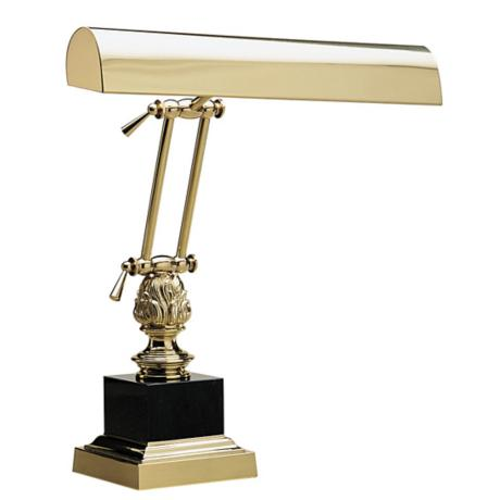 Black Marble and Solid Brass Piano Lamp