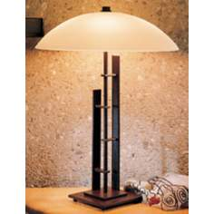 Hubbardton Forge Metra Double Table Lamp with Opal Glass
