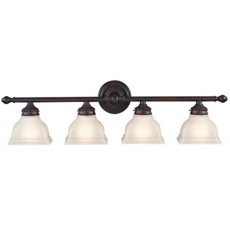 "Murray Feiss New London 33"" Wide Bronze Bathroom Fixture"