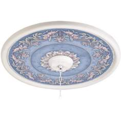 "Camelot Manor Sky 24"" Wide White 4 in. Opening Medallion"