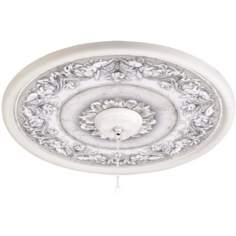 "Camelot Manor Mist 24"" Wide White 4 in. Opening Medallion"