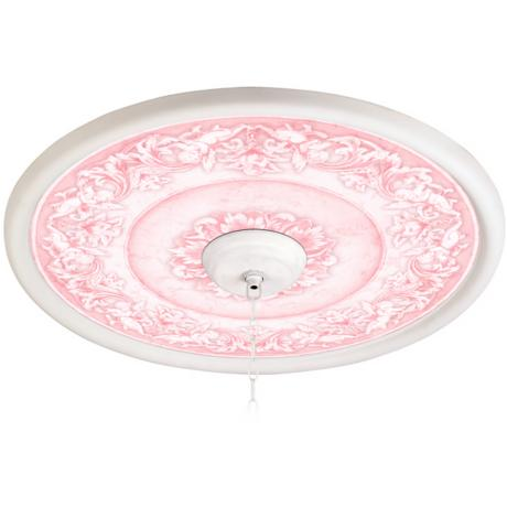 "Camelot Manor Rose 24"" Wide White 4 in. Opening Medallion"