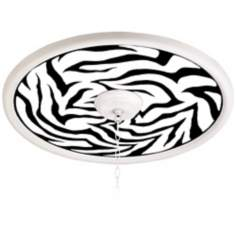 "White Tiger White 24"" Wide 4"" Opening Giclee Medallion"