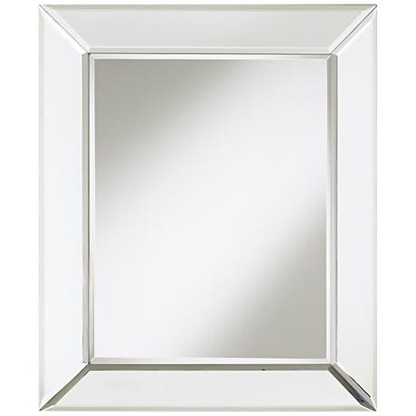 "Frameless Beveled Border 24"" High Wall Mirror"