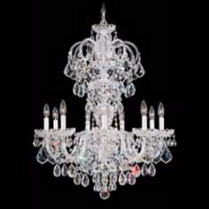 "Schonbek Olde World Collection 27"" Wide Crystal Chandelier"