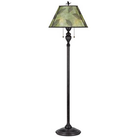Quoizel Mica Leaf Green Mica Shade Floor Lamp