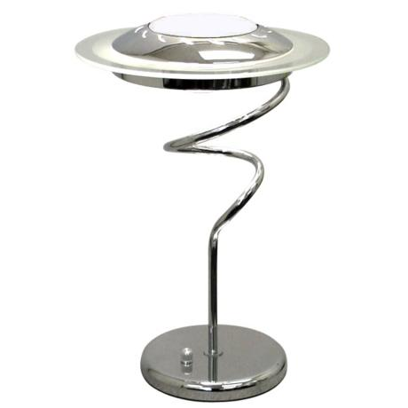 Lite Source Chrome Twist With Frosted Glass Shade Desk Lamp