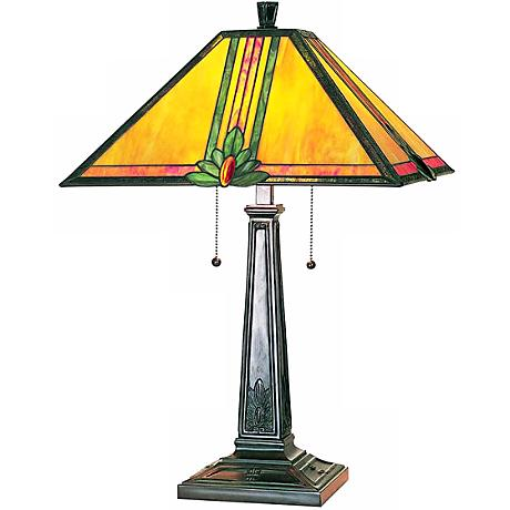 Lite Source Oak Leaf Tiffany Table Lamp